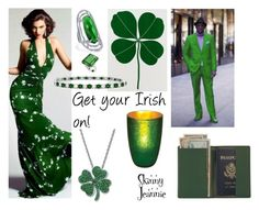 """photoshoot: get your Irish on!"" by skinny-jeannie ❤ liked on Polyvore featuring art"