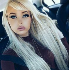 All about platinum crystal ash hair color! How about everything about this beautiful hair color? Hair color with platinum-ash crystal attracted a lot of attention on social . Beautiful Hair Color, Gorgeous Blonde, Beautiful Eyes, Sexy Makeup, Hair Makeup, Makeup Looks, Ash Hair, Grunge Hair, Hair Looks