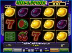 Ultra Fruits is a Novomatic powered classic slot machine with 10 fixed lines and not 5 but 15 reels.  http://www.casinocashjourney.com/slots/novomatic/ultra-fruits.htm