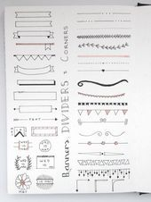 Bullet Journal Doodles: 24 Amazing Doodle Ideas For Beginners & Beyond! Bullet Journal Doodles: 24 Amazing Doodle Ideas For Beginners & Beyond!- Bullet Journal Doodles: 24 Amazing Doodle Ideas For Beginners & Bey Bullet Journal School, Bullet Journal Titles, Creating A Bullet Journal, Bullet Journal Lettering Ideas, Bullet Journal Banner, Journal Fonts, Bullet Journal Notebook, Bullet Journal Aesthetic, Bullet Journals