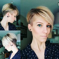 "@shorthair_love on Instagram: ""@petitemusareigne #shorthairlove #undercut #pixiecut #shorthair #hairstyle #haircut #hair"""