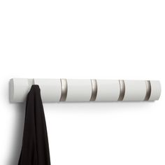 Hooks that flip up when not in use. Style (Old): -Modern. Dimensions: Overall Height - Top to Bottom: Overall Wid Wall Hook Rack, Wall Mount Rack, Wall Mounted Coat Rack, Wall Racks, Towel Hanger, Coat Hanger, Coat Hooks, Crochet Metal, Space Saving Hangers