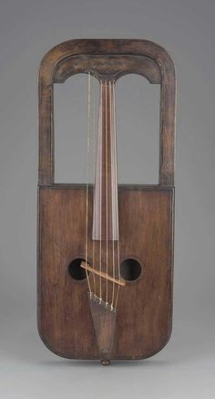 A 19th c Welsh fiddle of unconventional design, attributed to Owain Tudur, and now in the Boston Museum of Fine Arts