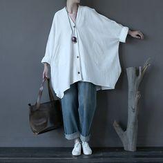 Effen Rood Wit Vintage Linnen Blouses Vrouwen Blouse Shirt Plus size Batwing Originele Casual Shirts Linnen Blusas Tops Grote Uitloper(China (Mainland))