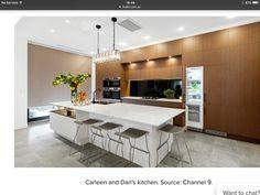 The Block 2016 - Week 8 Kitchen Reveals Modern Kitchen Cabinets, Kitchen Decor, Kitchen Design, Kitchen Ideas, The Block Kitchen, The Block 2016, Brooklyn Kitchen, Interior Railings, Cabinet Makers