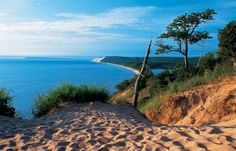 Dune Overlook in the Sleeping Bear Dunes National Lakeshore
