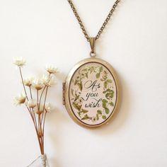 As You Wish botanical locket from Violette & Iris