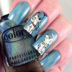 101 Dalmatian inspired nail art
