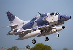 Wittmund Air Base (ETNT) May 11, 2015 C-FGZO / 532 BuNo:159534 McDonnell Douglas A-4N Skyhawk II Military Jets, Military Aircraft, Fighter Aircraft, Fighter Jets, Douglas Aircraft, Military Pictures, United States Navy, Aircraft Pictures, Jet Plane