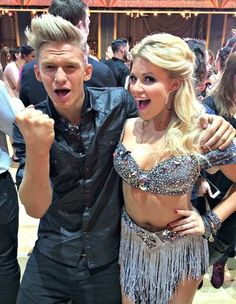 Cody Simpson and his partner Witney Carson on Dancing with the Stars