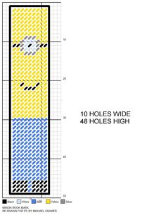Minion Bookmark plastic canvas pattern