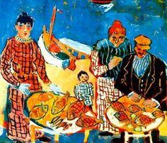 Sevgili Sanat: Fikret Mualla Figure Painting, Painting & Drawing, Painter Artist, Turkish Art, Art Station, Renoir, Rembrandt, Mosaic Art, Figurative Art