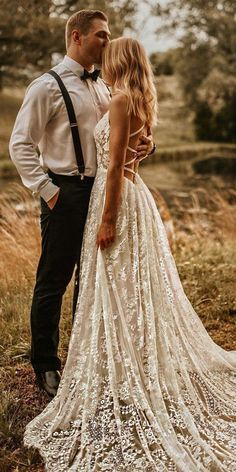 Country Style Wedding Dresses, Dream Wedding Dresses, Bridal Dresses, Country Dresses, Cowgirl Wedding Dresses, Curvy Wedding Dresses, Boho Lace Wedding Dress, Country Wedding Rings, Delicate Wedding Dress