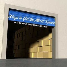 4 Ways to Get the Most Space out of Your Self Storage Unit
