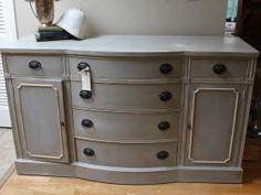 Client Restoration, Annie Sloan Paris Grey, Old White, Dark Wax