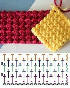Watch This Video Beauteous Finished Make Crochet Look Like Knitting (the Waistcoat Stitch) Ideas. Amazing Make Crochet Look Like Knitting (the Waistcoat Stitch) Ideas. Crochet Motifs, Crochet Diagram, Crochet Stitches Patterns, Tunisian Crochet, Crochet Chart, Diy Crochet, Crochet Designs, Stitch Patterns, Knitting Patterns