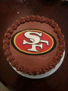 San Francisco 49ers chocolate cake