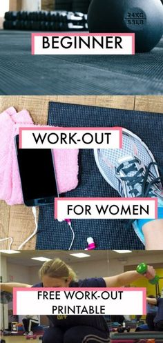 Beginner Gym Workout For Women + Free Printable - Kicking It With Kelly Ladies! Whether you have 10 pounds or more than 100 to lose, this beginner gym workout for women plus a free printable is the perfect place to start your journey! Gym Routine For Beginners, Beginners Gym Workout Plan, Gym Workout Plan For Women, Gym Workouts Women, At Home Workout Plan, Fun Workouts, At Home Workouts, Workout Plans, Ladies Gym Workout