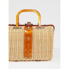 Audrey Picnic Basket ($78) ❤ liked on Polyvore featuring home, kitchen & dining, food storage containers and free people bags
