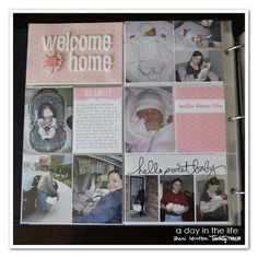 Project Life page protectors for a baby album