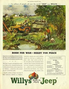 This must be the best advertising one could make for that car. (If you don't count the WWII as a vehicle exhibition.)