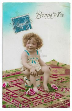 Little Girl on Chamber Pot, Vintage Girl Photo, Cute Blond Girl with Curly Hair, Tinted French postcard, Toddler Real photo postcard RPPC by maralecollectibles on Etsy Photo Postcards, Vintage Postcards, Vintage Photographs, Vintage Photos, Vintage Scrapbook, Very Lovely, Vintage Girls, Vintage Colors, Belle Epoque