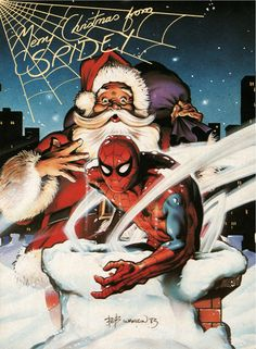 Merry Christmas from Spidey by Bob Wakelin