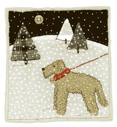 ❤ =^..^= ❤    Sharon Blackman | Mini-quilt Diesel the Big Big Dog | Inspiration