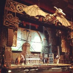 The stage set up for a production of Wicked at our Performing Arts Center