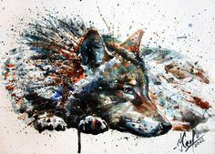 Wolf Art Print by KOSTART