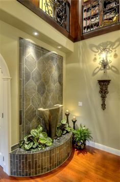 Best 8 Amazing Fountain Design Ideas For Your Minimalist Home Decoration - Indoor Wall Fountains, Indoor Fountain, Water Fountains, Indoor Waterfall, Wall Waterfall, Waterfall Fountain, Indoor Water Features, Waterfall Design, Fountain Design