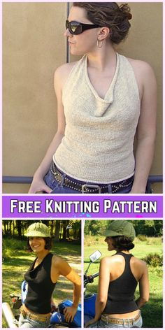 Knit Coachella Summer Sleeveless Top Free Knitting Top for Ladies