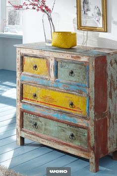 incredible dresser made of recycled wood – RİVER Home Design, Distressed Cabinets, Shabby, Image Notes, Vintage Stil, Recycled Wood, Decoration Table, Image Sharing, The Incredibles