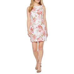 c53186a98a5 Alyx Sleeveless Floral Sheath Dress-Petite - JCPenney
