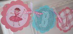 vintage birthday fairies banner