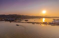 Wooden bridge and raft by hadkhanong on Creative Market