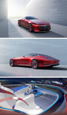 This might be the most beautiful car I have EVER seen! Ultimate in luxury: The Vision Mercedes-Maybach 6 is a homage to the glorious age of the aero coupés and consciously carries this tradition forward into the future. Mercedes Maybach, New Mercedes, Maybach Coupe, Maserati, Bugatti, Ferrari, Lamborghini Huracan, Automobile, Futuristic Cars