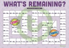 Teaching Resource: A fun board game to play to when learning to solve division problems involving remainders.