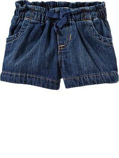 Denim Pull-On Shorts for Baby
