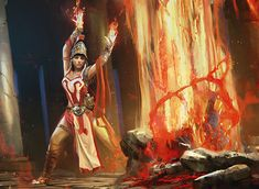 Flamespeakers - Art by Maciej Kuciara
