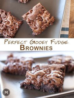 Fantastic gooey fudge brownies that are dense and chocolatey. Easy to make and totally addictive.