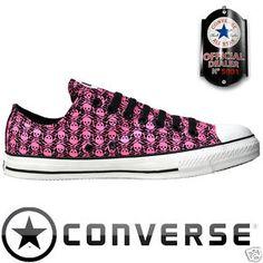 Jackass Converse Pink Skulls