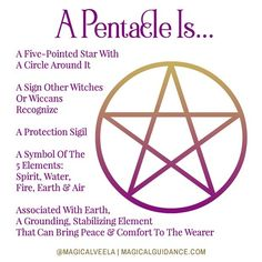 "Magical Veela ✨ Energy Alchemy on Instagram: ""🌛🌕🌜 What is a ""pentacle"" or ""pentagram""? What does it mean? Is it ""satanic""? This question comes up all the time! (My blog post about this…"""