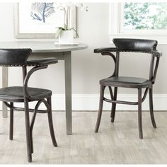 Safavieh Kenny Antique Black Arm Chair   Overstock.com Shopping - Great Deals on Safavieh Dining Chairs