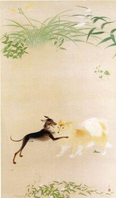 Kobayashi Kokei「犬(庭の一隅)」 小林古径 1932(昭和7)年