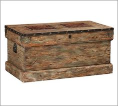 Trunk from amish town, PA! Think it would go well with the colors in the bali wood art
