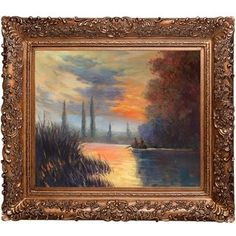 Shop for Claude Monet 'Evening at Argenteuil' Hand Painted Framed Canvas Art. Get free delivery at Overstock.com - Your Online Art Gallery Store! Get 5% in rewards with Club O!