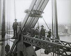 Queensboro Bridge, pier in place, upper deck, northeast, May 2, 1907