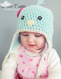 3e4dab452f5 Sweet Tweet Birdie Beanie pattern by Lori Murphy. Ravelry. Cutest little ...