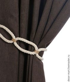 Curtain Tie Backs Diy, Curtain Ties, Cortinas Shabby Chic, Baby Room Curtains, Rideaux Design, Crochet Bedspread Pattern, Diy Embroidery Patterns, Couch Cushion Covers, Curtain Holder